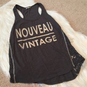 PJ Salvage Tops - PJ SALVAGE Nouveau Vintage Tank size medium